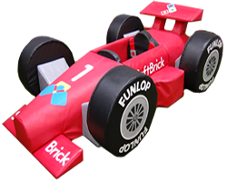 A formula 1 themed inflatable