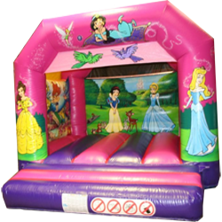 A delightful princess themed bouncy castle
